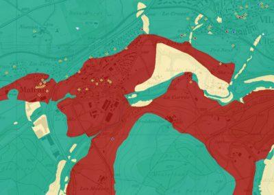 Carte d'admissibilité pour l'implantation de sondes géothermique verticales (SGV) du canton de Fribourg